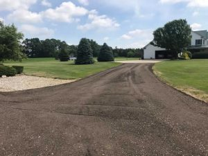 Crushed Asphalt Driveway Resurfacing After Photo
